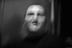 . (Tu i tam fotografia) Tags: blackandwhite noiretblanc enblancoynegro inbiancoenero bw monochrome czerń biel czerńibiel noir czarnobiałe człowiek man portret portrait głowa head twarz face blur strange straszne straszny horrible terrible przerażający creepy freaky scary odd