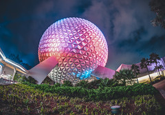 Landscapes of Spaceship Earth Epcot (jimisPHOTOS) Tags: disney disneyworld waltdisneyworld wideangle wdw orlando travel themepark themeparks traveling florida color colors clouds