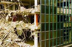 Rollei 35 (danielcane) Tags: rollei 35 rollei35 tessar 40mm ferrania solaris ferraniasolaris 200 iso 200iso fgplus expiredfilm expired sheffield yorkshire southyorkshire building buildings architecture demolition site demolitionsite