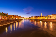 FLORENCE AT DUSK CLASSIC VIEW (sciatore73!) Tags: florence firenze ponte vecchio arno old bridge