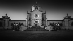 Light & Dark (blondmao) Tags: milan building italy cemetery chapel milano noperson monochrome light symmetry dark fineart architecture blackandwhite cimiteromonumentale lombardy