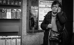 2019_045 (Chilanga Cement) Tags: fuji fujifilm fujix fujix100f xseries x100f x100 x100s x100t bw blackandwhite monochrome candid beinghuman lady preston prestonstation bag phone