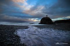 Short Beach Sunrise (Matt Straite Photography) Tags: beach shore water ocean sand rocks sky sunrise sunset color clouds filter rain landscape canon cat