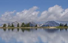 Lake with Mountain range (Austrian Traveller) Tags: reflection mountains clouds austria lake blue sky wolken priel österreich alpha6000 wolkenstimmung spiegelung berggipfel