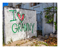 I ❤️ GRANNY (Timothy Valentine) Tags: 2018 0418 wednesday caribbean vacation wall bridgetown christchurch barbados bb