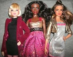 Model Muse Barbie lovelies #3 (skipscales) Tags: barbie modelmuse aa black blonde brunette fashion dolls