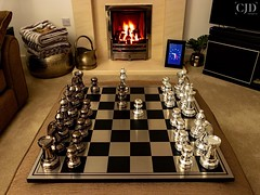 Checkmate! (CJD imagery) Tags: longexposurephotography canonefs18135mmf3556isstm canoneos80d cosy festiveseason christmas winter checkmate strategy boardgame longexposure fire chess chessboard essex elsenham england gb greatbritain uk unitedkingdom