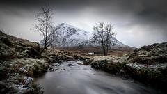 Wee Bothy (Robgreen13) Tags: scotland scottishhighlands glencoe glenetive riveretive bothy lagangarbhcottage landscape trees snow ice rain mountains buachailleetivemor