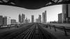 Metropolis (andreasmally) Tags: metro dubai sky skyline wolkenkratzer zug vereinigte arabische emirate schienen united arab emirates architektur black white