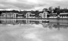 MAR_1919_00005 B&W (Roy Curtis, Cornwall) Tags: uk cornwall truro truroriver reflection greyday river water weather urban