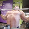 lat pulldowns (ddman_70) Tags: shirtless pecs abs muscle gym workout latpulldowns
