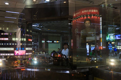 Taipei, Taiwan. 2018 (jaumescar) Tags: taipei 台北市 taiwan night city urban color commercial ad neon streetphotography layers woman photo asia