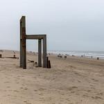 Giant wooden chair stands on coast of Zandvoort aan Zee, Netherlands thumbnail