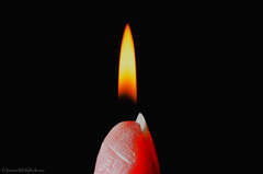 flaming fingertip (sure2talk) Tags: macromondays aprilfools flamingfingertip flame finger demonic glow nikond7000 nikkor85mmf35gafsedvrmicro macro closeup composite 119picturesin201931demonic