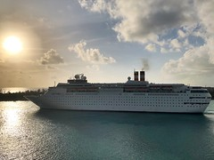 Sun over the sea (kirsten.eide) Tags: travel vacation outdoors nature atlantic ocean paradise cruiseship bahamas sun iphone boats sea cruise