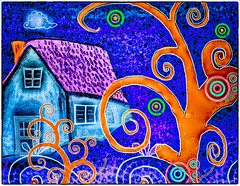 Banunia (Swissrock-II) Tags: draw painting brushes texture photoshop pixlr color inspired 2019 march tree house fantasy