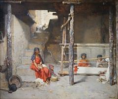 Tisseuses à Bou-Saâda de G. Guillaumet (Musée La Piscine, Roubaix) (dalbera) Tags: dalbera roubaix france lapiscine musée exposition gustaveguillaumet algérie tissage orientalisme