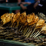 Chicken barbecues displayed to attract customers thumbnail