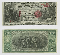 United States $5.00 (five dollars) national currency (SMU Libraries Digital Collections) Tags: texas money national us united states currency paper banks notes note banknote banknotes chartered bank banking el paso elpaso elpasocounty