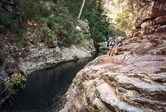 Upper Portals, 1993 (NettyA) Tags: 1993 australia mtbarneycreek mtbarneynationalpark qld queensland upperportals bushwalking scannedprint scenicrim