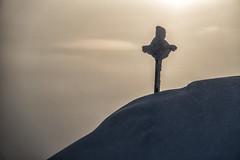 Eingeschneites Gipfekreuz im Sonneuntergang (stefangruber82) Tags: alps alpen tirol tyrol snow schnee winter berge mountains