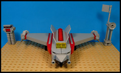Heavy Assault Fighter. (Karf Oohlu) Tags: lego moc microscale aircraft assaultfighter