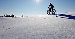 We're Nearing The End Of The Snow Season (Patrick Strahm) Tags: winter snow fatbike ride 24032019 blue sky snowfield