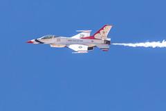 Thunderbird #2 General Dynamics F-16 Fighting Falcon (gilamonster8) Tags: aircraft 150600mm1563dgc dmafb sigma fighterplane fightingfalcon airshow flickr airforce fighter 5dmarkiv blue usaf wing plane 2019thunderandlightningoverarizona warbird tucson sky f16 kdma canon falcon arizona unitedstatesofamerica us