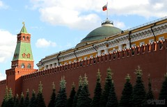 Kremlin Fort (Mahmoud R Maheri) Tags: kremlin redsquare moscow russia monumentalbuilding wall redwall tower trees fort palace