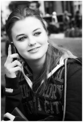 Call Me (nikon_13) Tags: dry super superdry mascara eyes white black beauty beautiful hair smile blonde square leicester street phone girl