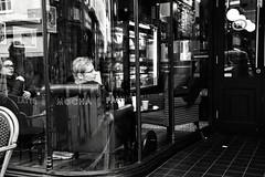 Cafe Culture (Bury Gardener) Tags: monochrome mono burystedmunds bw blackandwhite britain 2019 england eastanglia uk nikond7200 nikon suffolk streetphotography street streetcandids snaps strangers candids candid people peoplewatching folks abbeygatestreet
