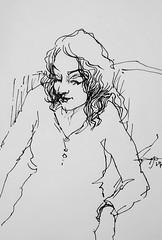 (Gasheh) Tags: art painting drawing sketch portrait girl line pen gasheh 2019