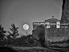 Luna viva (Luicabe) Tags: airelibre astro blancoynegro cabello cementerio cielo cruz enazamorado exterior gris luicabe luis luna monocromático naturaleza ngc paisaje pared satélite yarat1 zamora zoom