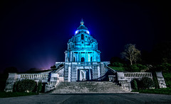 Ashton memorial, Lancaster, UK, night shot. (Bearded Shooter) Tags: building buildings architecture architect light night long exposure longexposure bright contrast colours intense impressive trees williamson park lord ashton memorial lancaster uk nikon d7200 nofilter heavy process sky