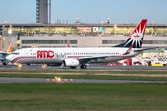 SU-BPZ AMC Airlines Boeing 737-86N (buchroeder.paul) Tags: eddl dus dusseldorf international airport germany europe ground dusk subpz amc airlines boeing 73786n