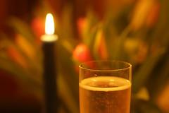 Love potion (lenswrangler) Tags: lenswrangler digikam candle flowers valentines champagne sparkling wine love potion lovepotion flickrfriday