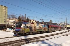 ÖBB 1116 157-9 Polizei - gemeinsam sicher, Railjet Kufstein (TaurusES64U4) Tags: taurus öbb 1116 railjet