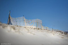 JSM_1131edge80fence1jsm (JayEssEmm) Tags: lensbaby edge80 chatham massachusetts ma fence sand beach jsmcelvery mcelvery