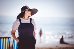 Seaside life (solomiya.p) Tags: magical girl sunlight naturallight sun beauty details outdoor bokeh day portrait shadow sea seaside beach sunny bokehlicious 135mm