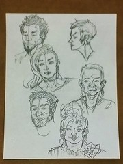 So many faces (PhotoJester40) Tags: sketches drawings people amdphotographer pencildrawing faces