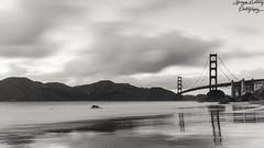 Golden Gate Bridge (shoot.raw) Tags: goldengate landscape blackandwhite sf sanfrancisco beach longexposure water
