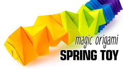 Magic Origami Spring Toy Tutorial (Salman Ebrahimi) - Paper Kawaii (paperkawaii) Tags: origami instructions paperkawaii papercraft diy how video youtube tutorial