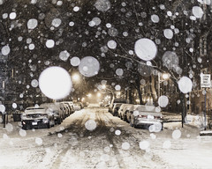 One-way (aerojad) Tags: eos canon 80d dslr 2019 chicago urban snow snowing winter february bokeh snowkeh outdoors city night nightphotography nightscape winterscape snowscape