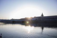 Coucher de soleil (revoli photo) Tags: lyon slack slackline bateau soane rhone parc song city sun bird