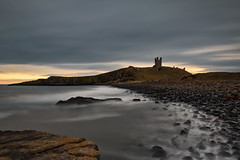 THALASSOPHILE (lynneberry57) Tags: moody sky clouds overcast dunstanburghcastle heritage northumberland coast seascape sea tide deathrocks longexposure canon 70d leefilters nature light rocks castle water sunrise