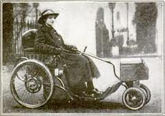 1920s Electric Disability Trike (jackcast2015) Tags: polio disabled disabledwoman handicappedwoman disabilitytrike mobilitytrike 1920s