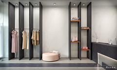 Clothing Store_CGI/Porcelanosa Group (Andrés Rosón López) Tags: andres andrés roson rosón design diseño interior interiors live perspectivas grafico graphics 3d arquitectura architecs art infografia info imagedisplayjobs interiordesignproject roomdesign decorationspaces housingarchitecture advertisingimages architectural visualization digitalart 3dstudiomax corona cg cgi