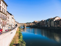 Florence 30/9/2018 (sabienvdberg) Tags: architecture city water bridge river europe pontevecchio italia italy toscana tuscany firenze florence