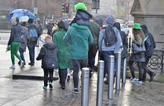 shades of wet green (conall..) Tags: wet rain nikon afs nikkor f18g lens 50mm prime primelens nikonafsnikkorf18g greenhair green wig st patrick's day parade belfast 2019 citycentre belfaststpats greenhat