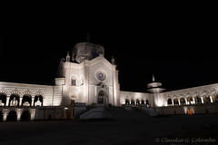 Milan, Italy: CImitero Monumentale by night (clodio61) Tags: cimiteromonumentale europe italy lombardy milan architecture building cemetery city evening exterior landmark light monument night outdoor photography religion religious urban